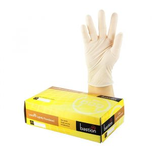 Lightly Powdered Bastion gloves non-sterile