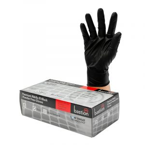 Bastion Nitrile Black & Powder Free gloves 100 pcs