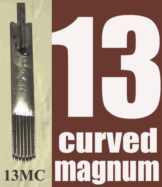Pre made sterile curved magnum needles/50pcs